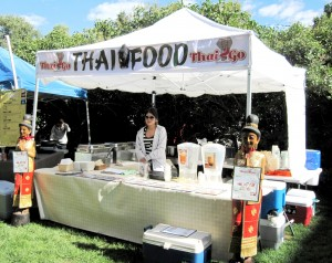 THAI2GO BOOTH AUG 6 2011 EARLY MORNING Saturday Market Food Court